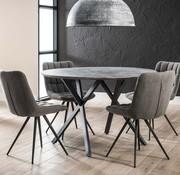 Eettafel MDF Jelle rond betongrijs Ø120 cm
