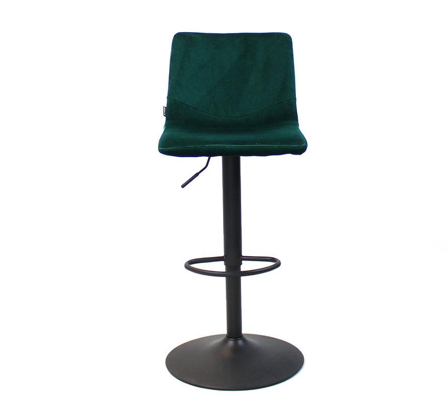 Horeca barkruk Frenkie groen velvet 59 - 76 cm