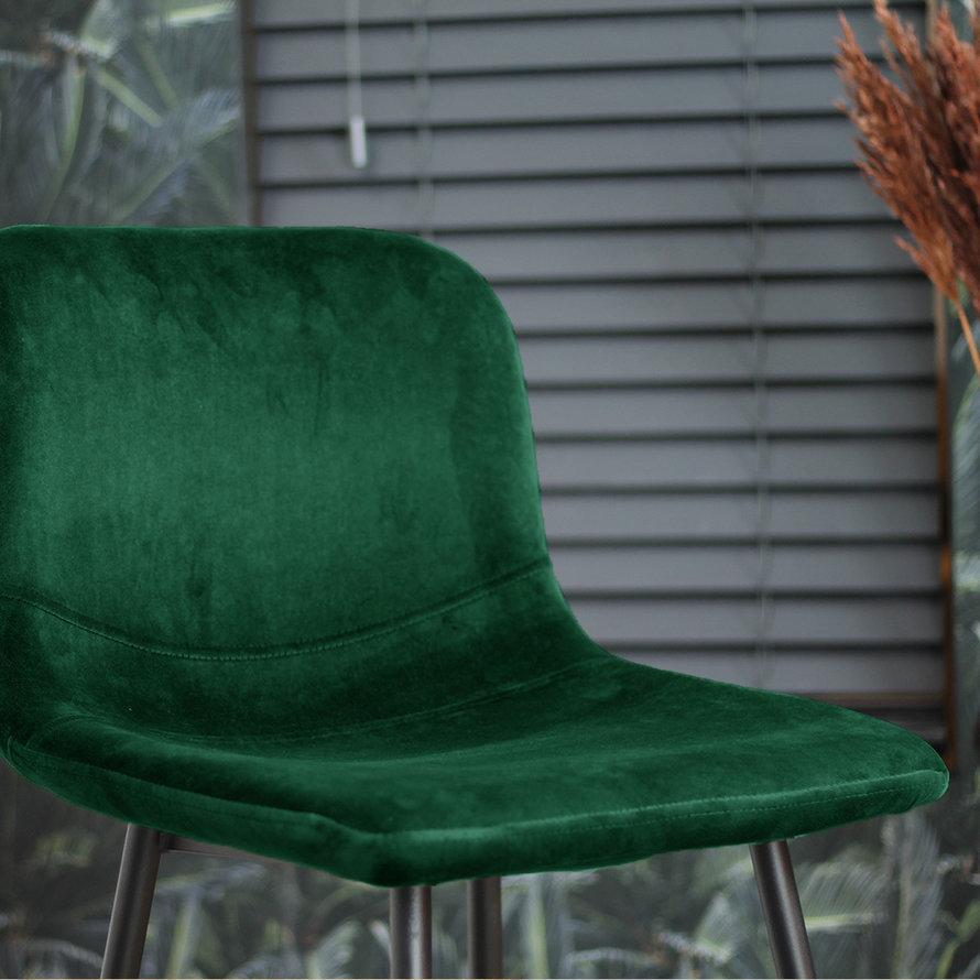 Horeca barkruk Mikky groen velvet 68 - 79 cm