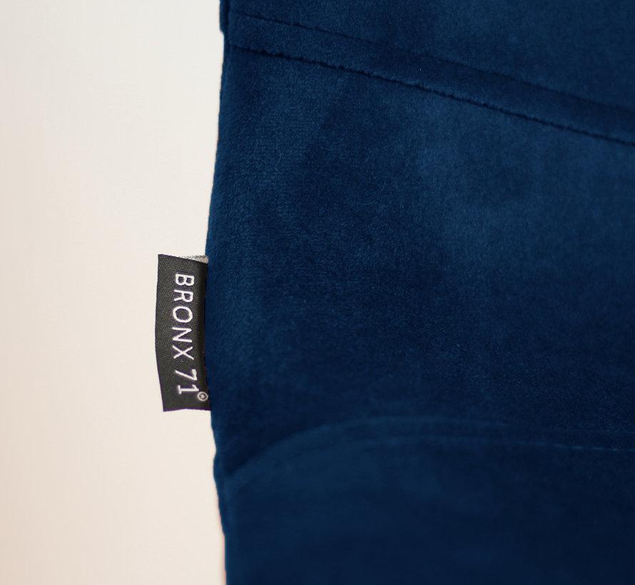 Horeca Barkruk velvet Mikky blauw 68 - 79 cm