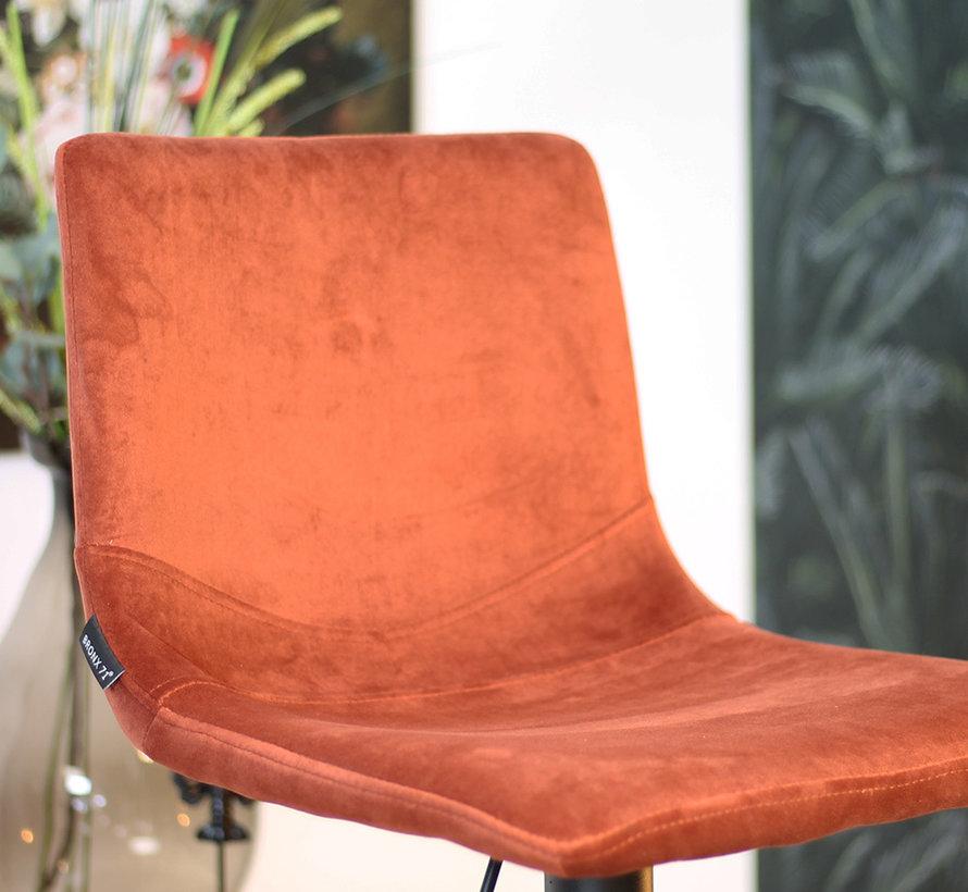 Horeca Barkruk Frenkie koper velvet 59 - 76 cm