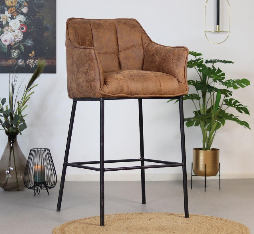 Horeca barstoel Aaron - Leatherlook cognac 82 cm