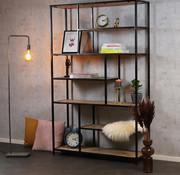 Industriële boekenkast Mats mangohout 120 x 188 cm
