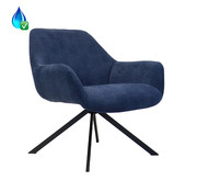 Bronx71 Fauteuil Emily ribstof donkerblauw