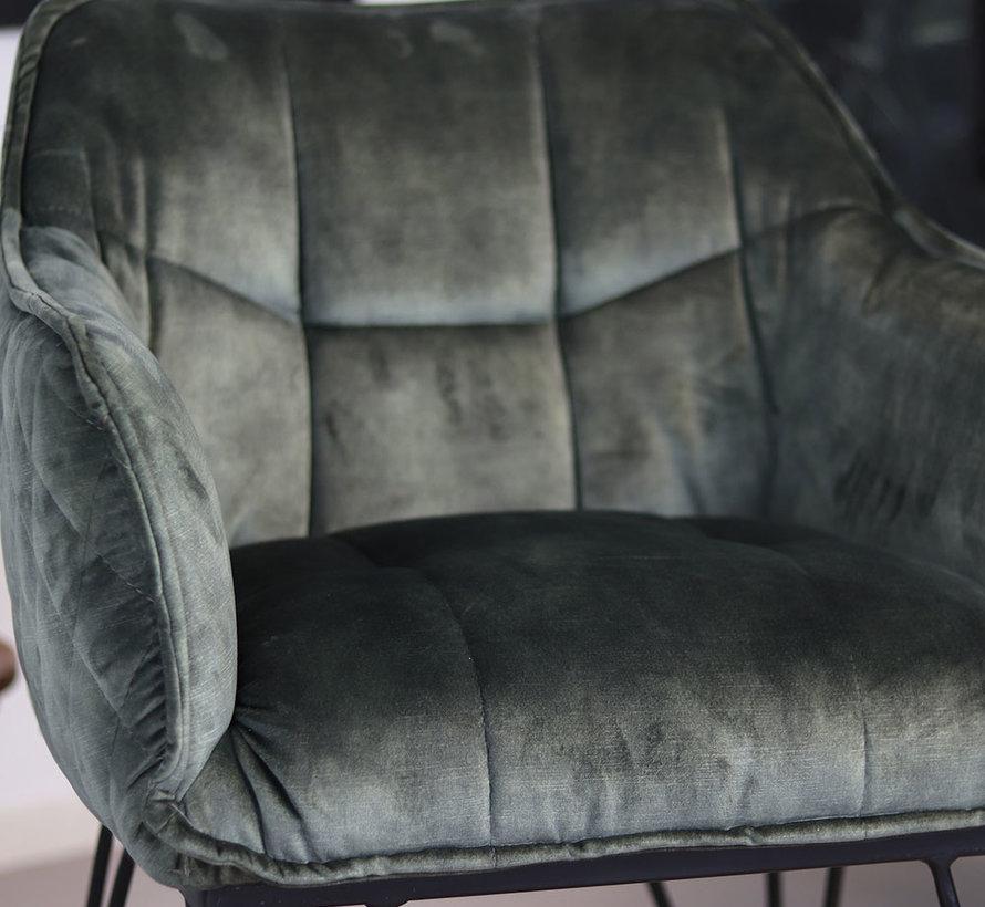 Horeca stoel Jayron velvet groen