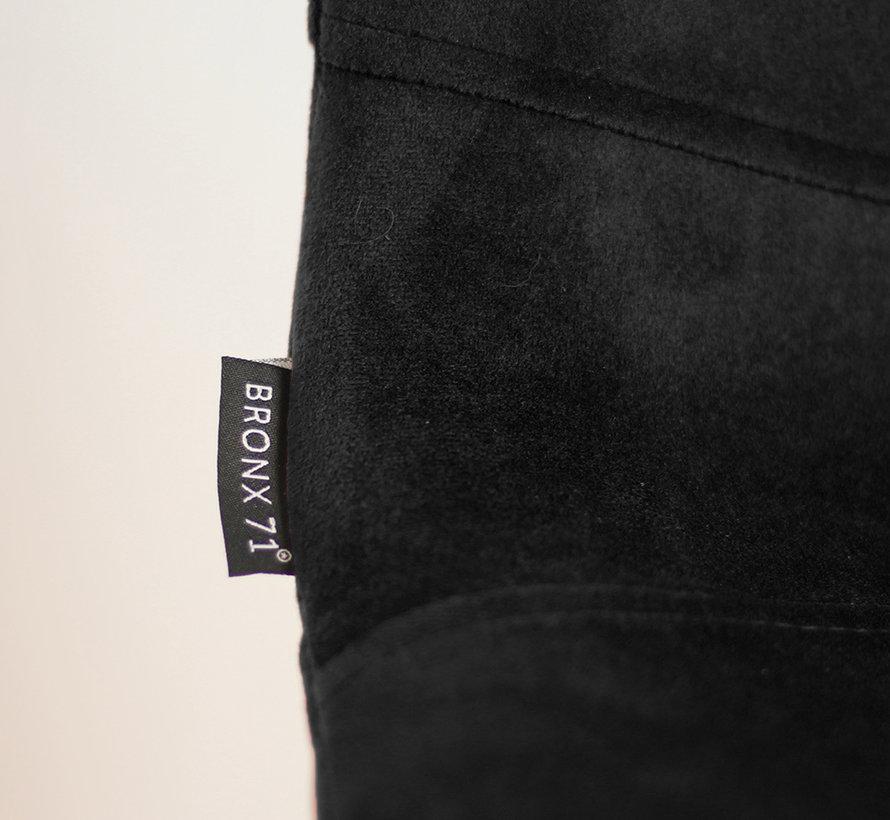 Horeca Barkruk velvet Mikky zwart 68-79 cm
