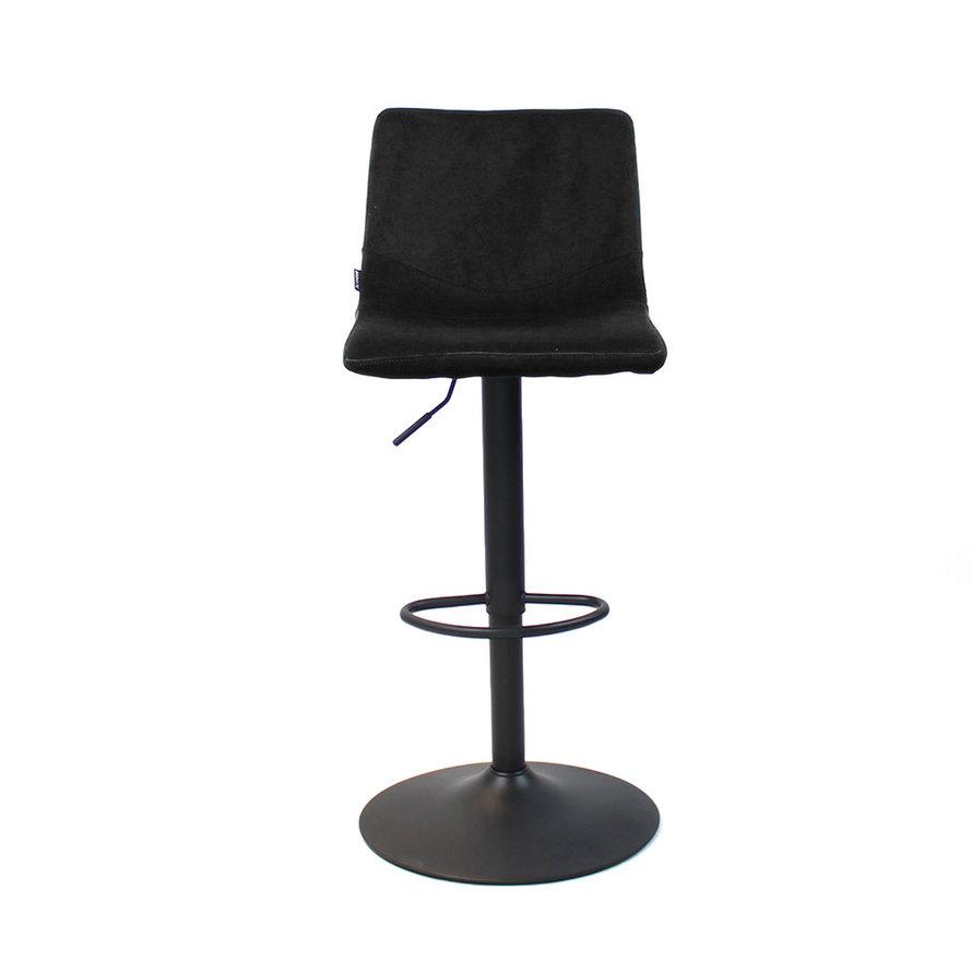 Horeca barkruk Frenkie zwart velvet 59 - 76 cm