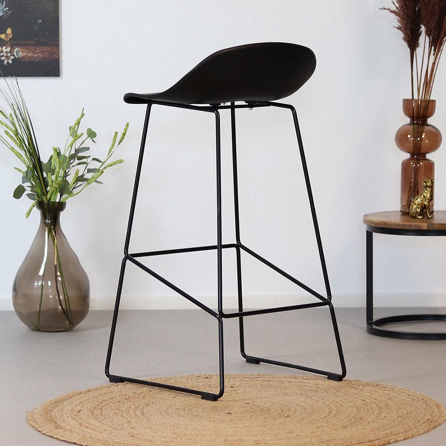 Horeca Barkruk Erica zwart Scandinavisch design 76 cm