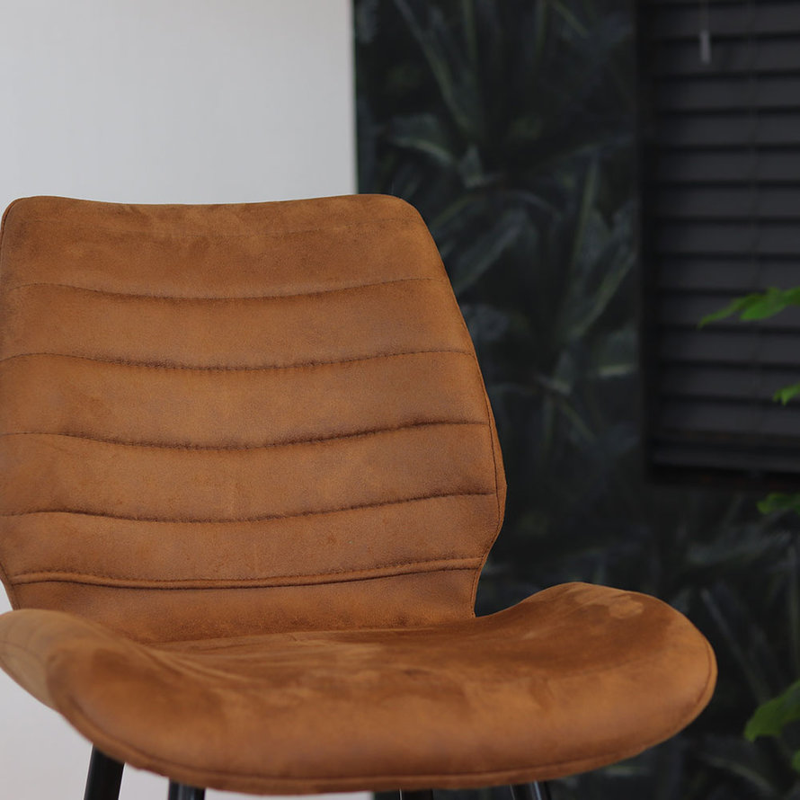 Horeca Barkruk Morris cognac microvezel 71 cm