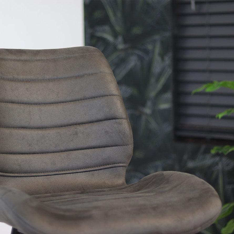 Horeca Barkruk Morris antraciet microvezel 71 cm