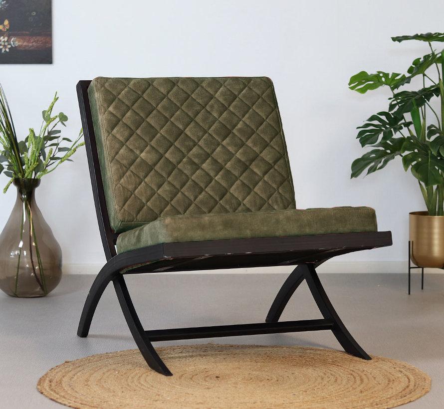 Design fauteuil Madrid velvet groen