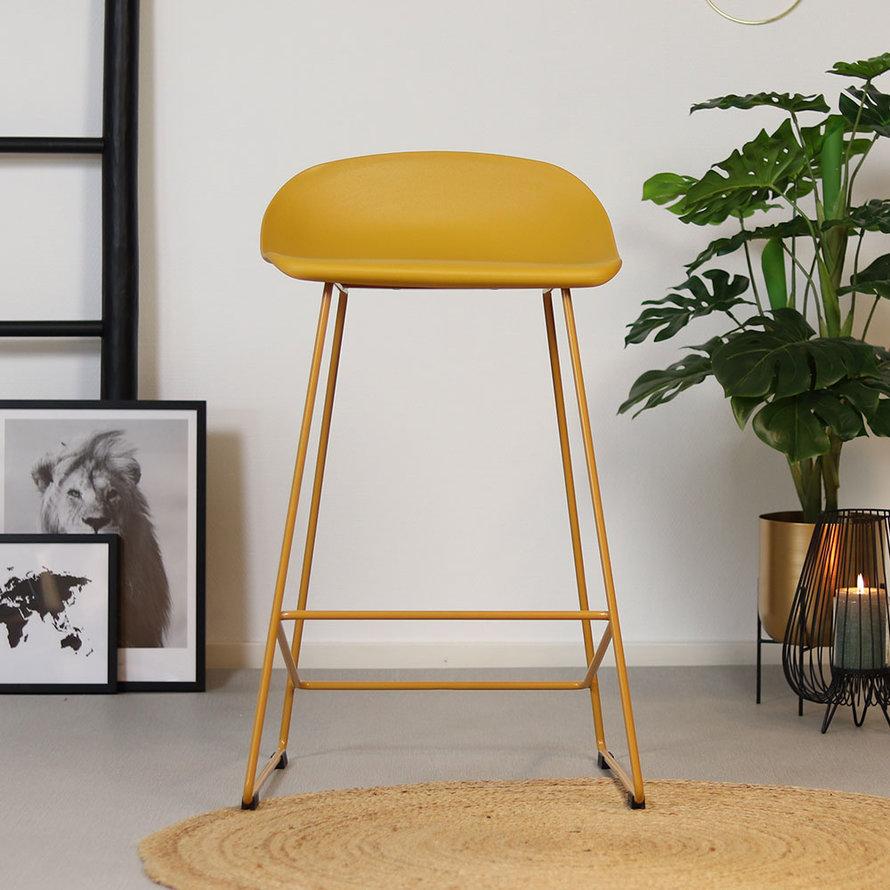 Horeca Barkruk Erica geel Scandinavisch design 66 cm