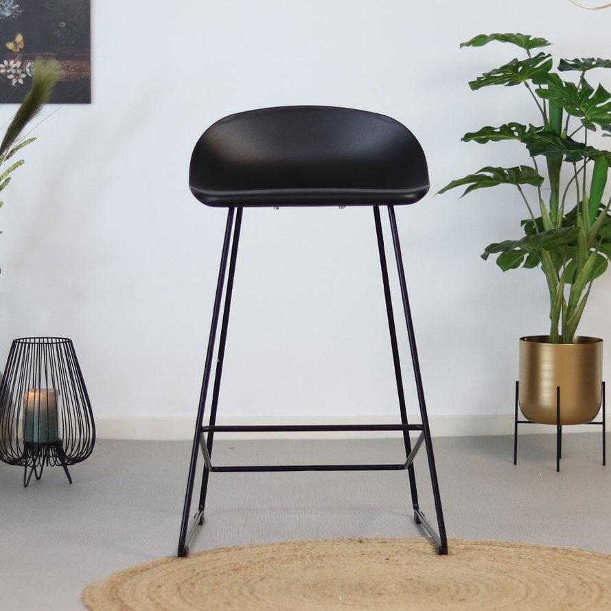 Horeca Barkruk Erica zwart Scandinavisch design 66 cm