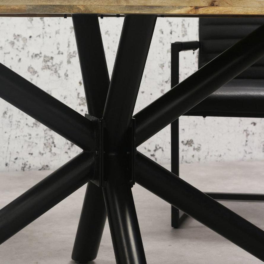Horeca tafel Bing ovaal mangohout 280 x 110 cm