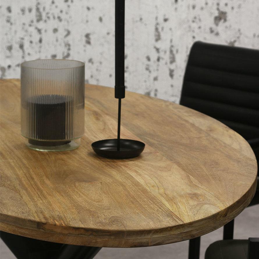 Horeca tafel Bing  ovaal mangohout 200 x 110 cm