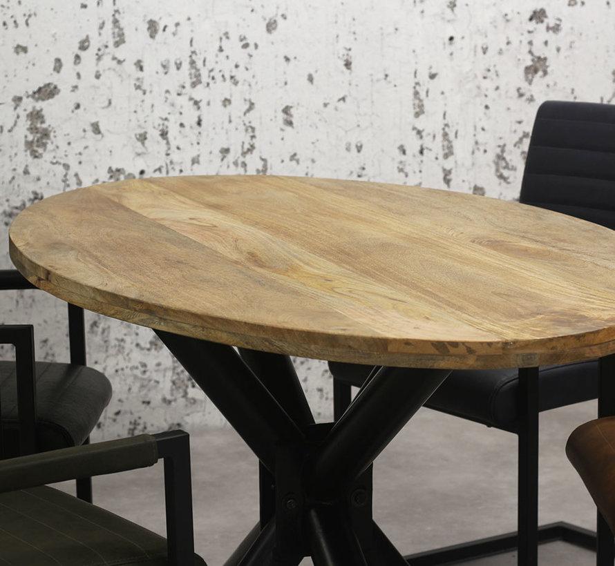 Horeca tafel Bing ovaal mangohout 180 x 100 cm