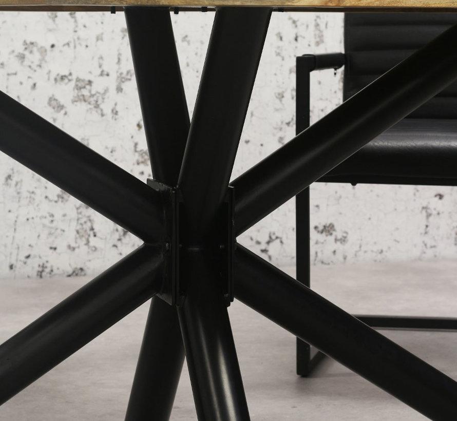 Horeca tafel ovaal mangohout Bing 180 x 100 cm