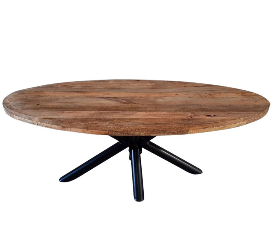 Horeca tafel Bing ovaal mangohout 160 x 90 cm