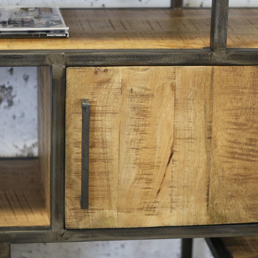 Industriële kast Kodi mangohout 120 x 202