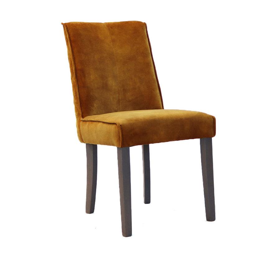 Horeca velvet stoel Ruby okergeel