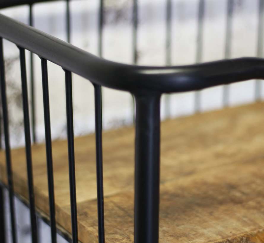 Industriële kast Madeline mangohout 80 x 180