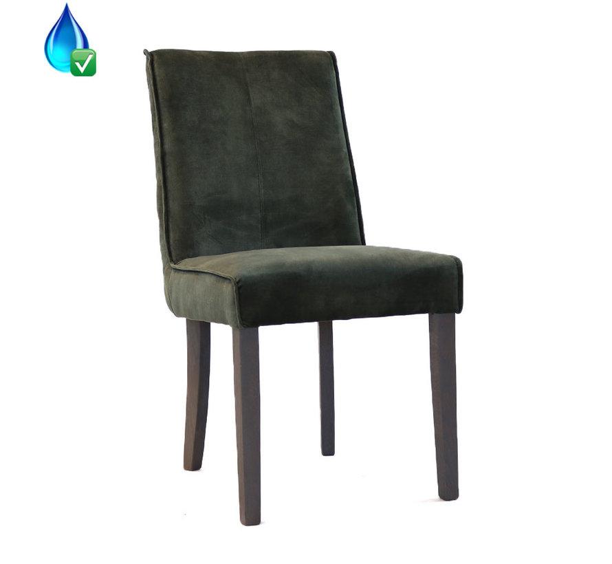 Horeca velvet stoel Ruby groen