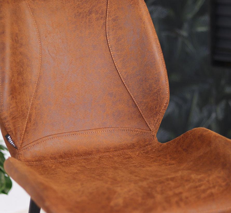 Horeca barkruk Barrel cognac leer 69 cm - waterbestendig