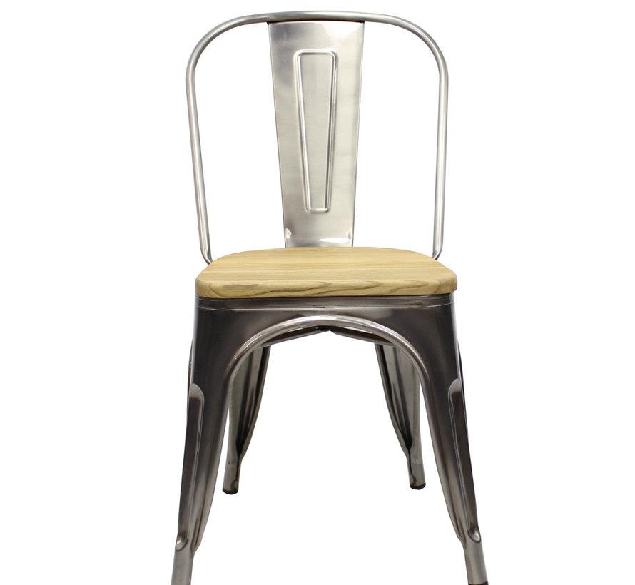 Stapelbare Horeca Retro café stoel metaal hout