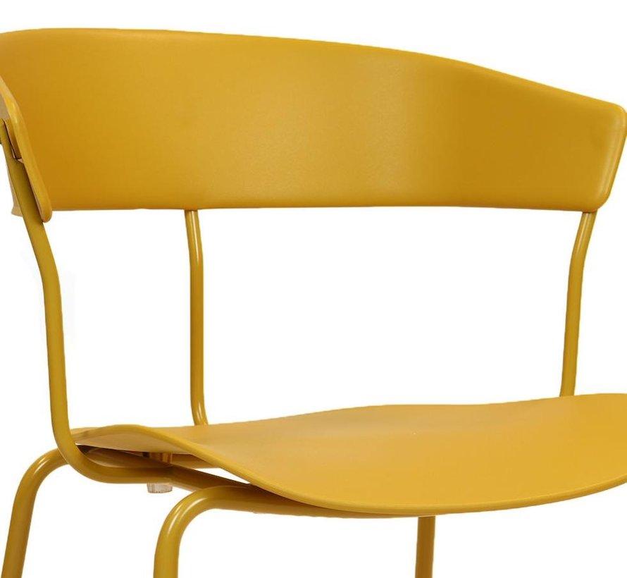 Horeca stoel Denver geel Scandinavisch design