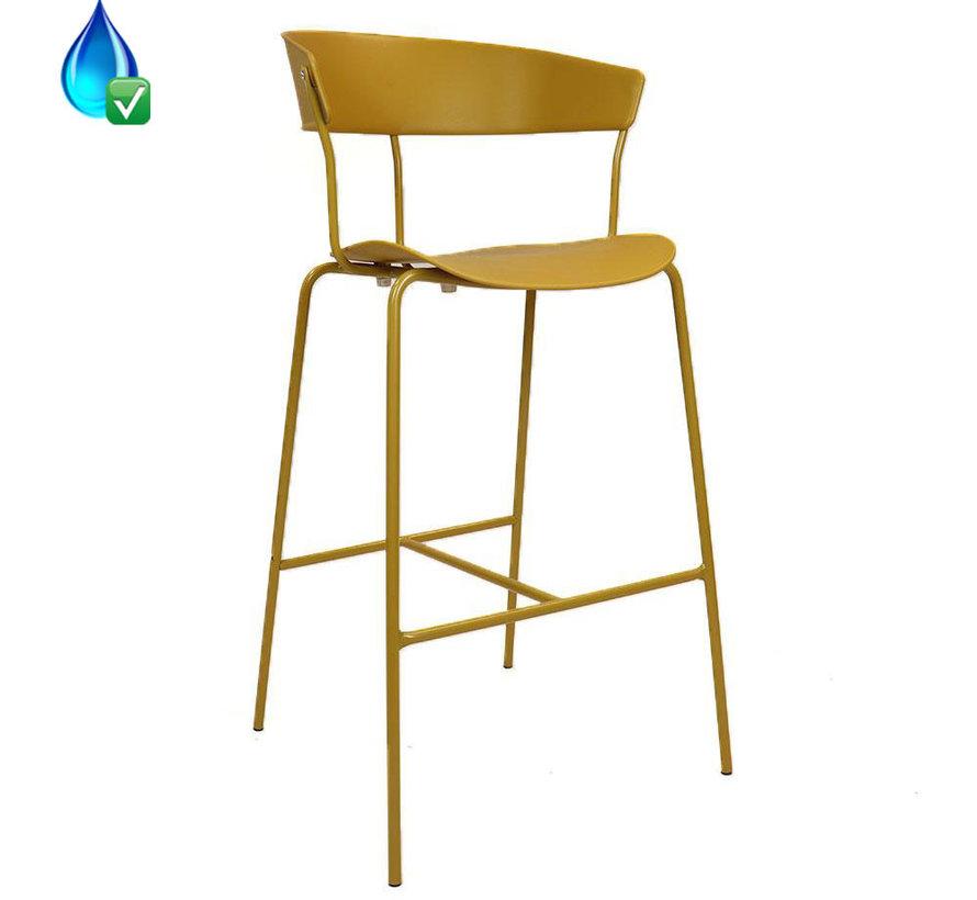 Horeca Barkruk Denver geel Scandinavisch design 77cm