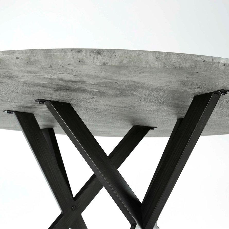 Eettafel MDF Jelle rond betongrijs Ø120 x 76 cm