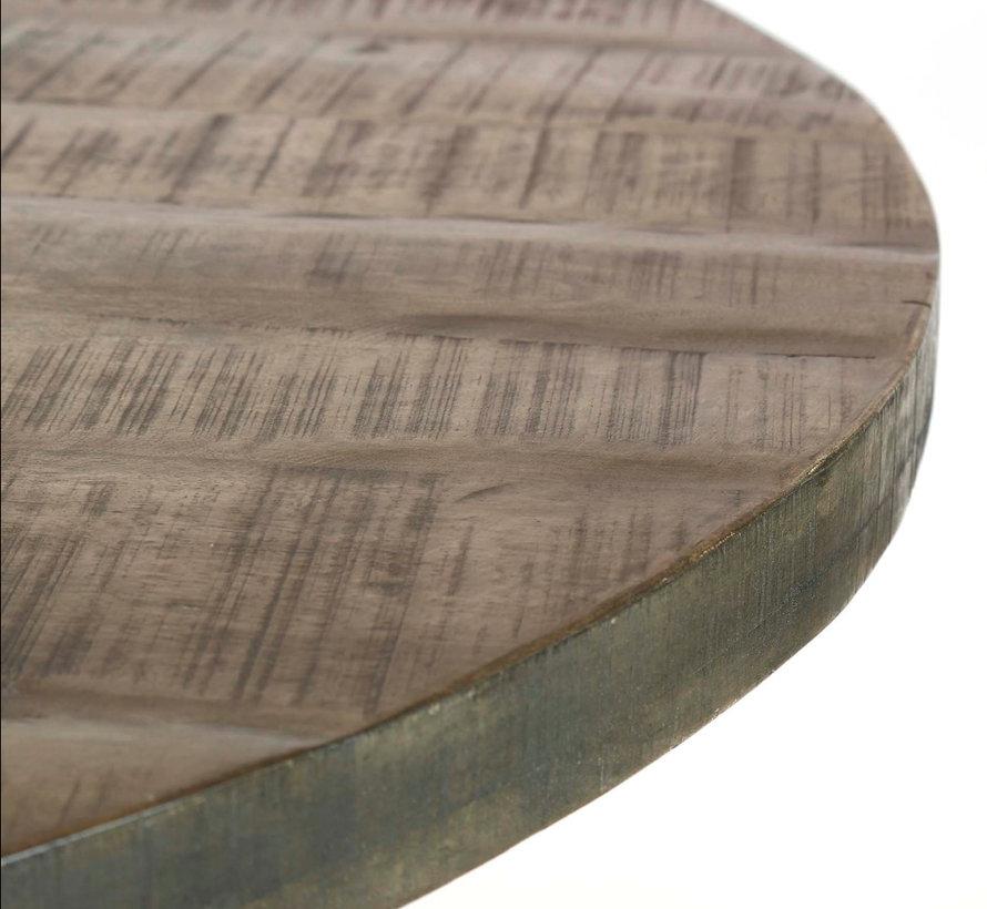 Eettafel Stijn rond Ø120 x 76 cm mangohout leem