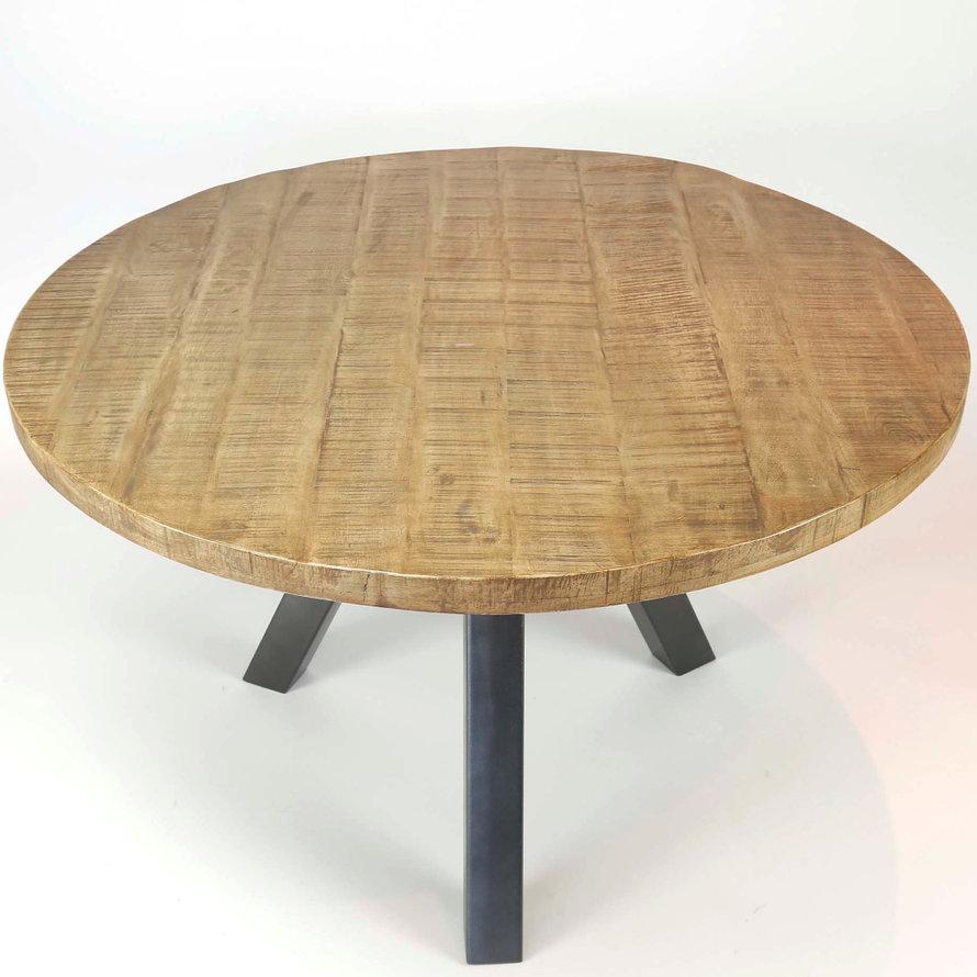 Eettafel Stijn rond Ø120 x 76 cm mangohout