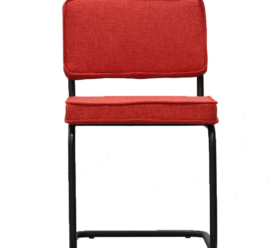Horeca stoel Boaz rood textiel