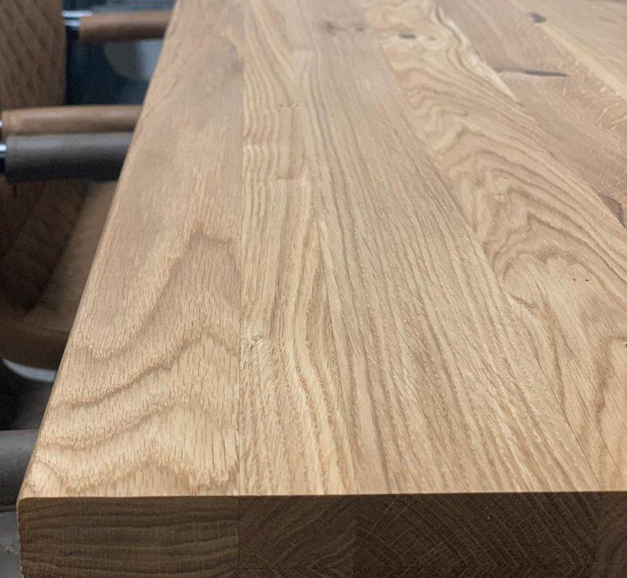Massief eiken tafel Siem 140 x 80 cm X-Poot