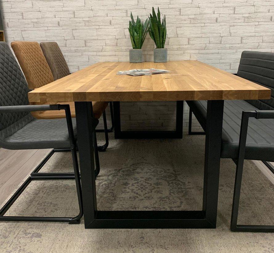 Massief eiken tafel Siem 140 x 80cm U-Poot