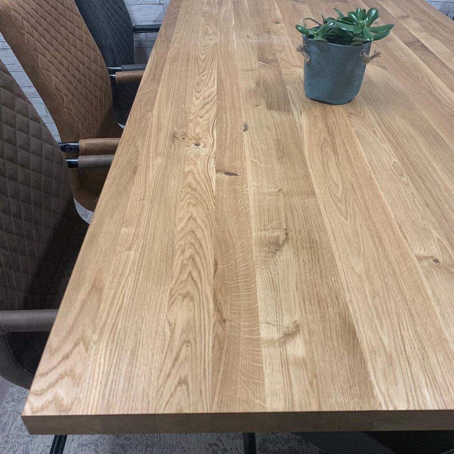 Massief eiken tafel Siem 160 x 90 cm X-Poot