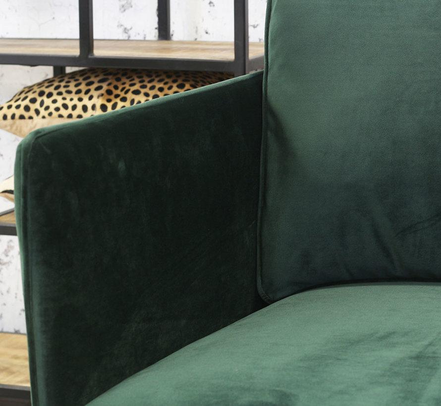 Fauteuil Reinoud groen velvet