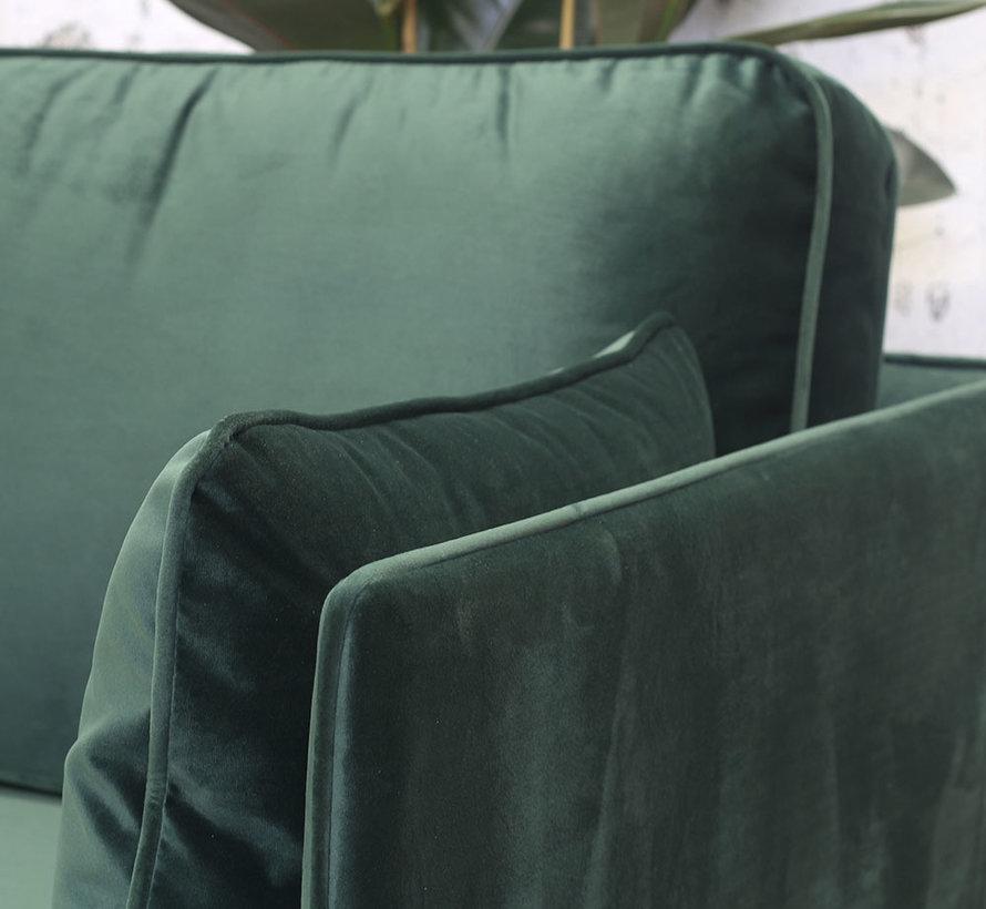 Hoekbank Reinoud rechts groen velvet 3-zits