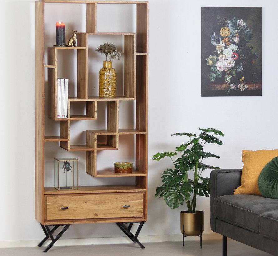Boekenkast Hunter acaciahout 185 x 80 cm