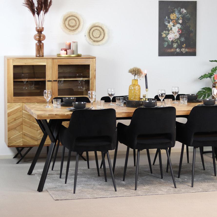 Horeca buffetkast Hunter acaciahout 105 x 40 x 125 cm