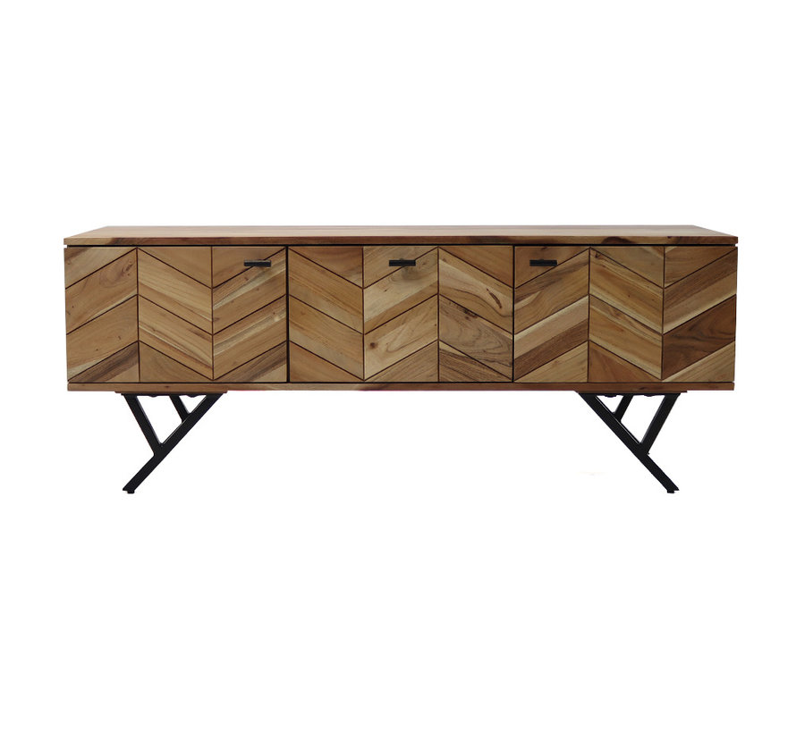 Tv-meubel Hunter acaciahout 130 x 40 x 51 cm