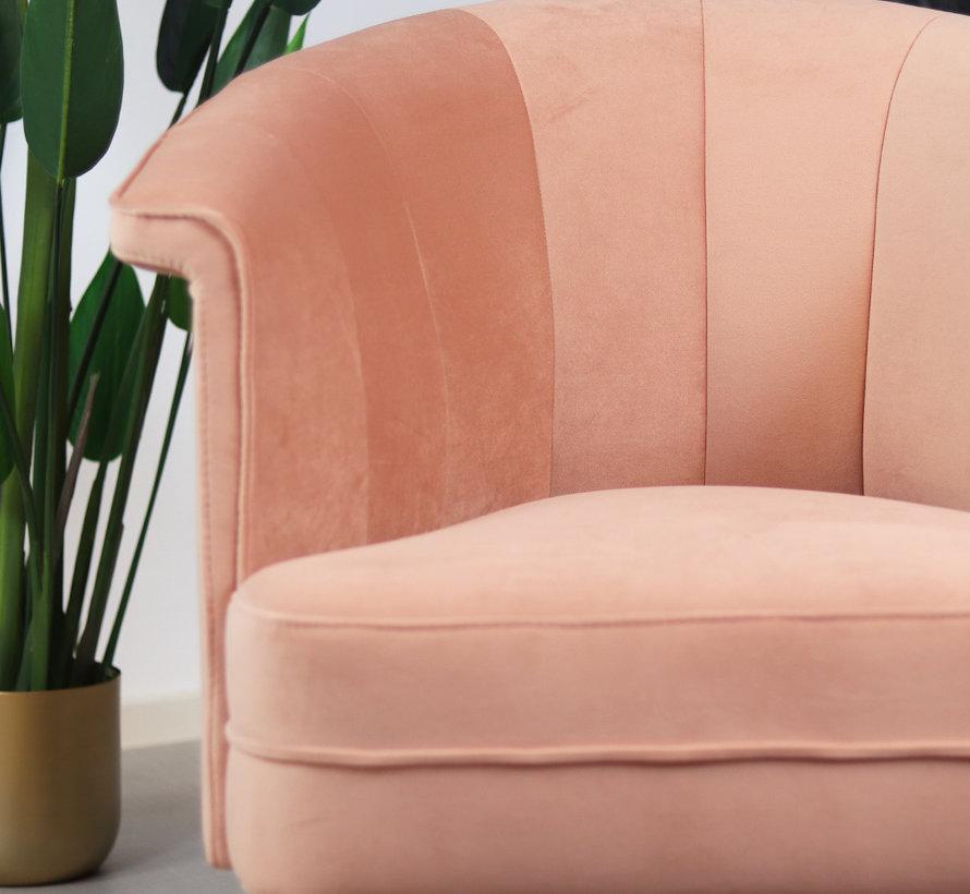 Fauteuil Amy roze velvet