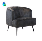 Bronx71 Fauteuil Billy antraciet velvet