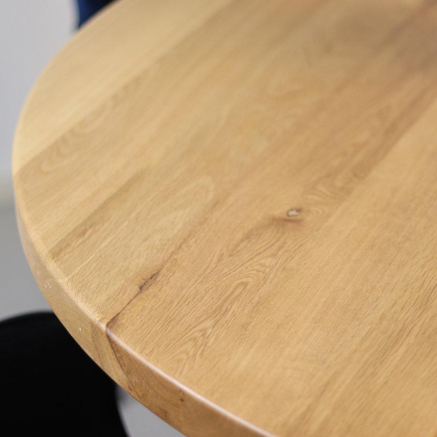 Horeca bistrotafel Sven rond eikenhout Ø 120 cm