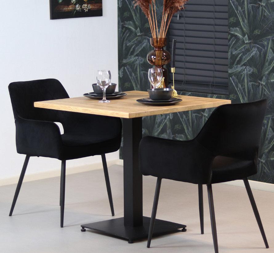 Horeca bistrotafel Sven eikenhout 80 x 80 cm