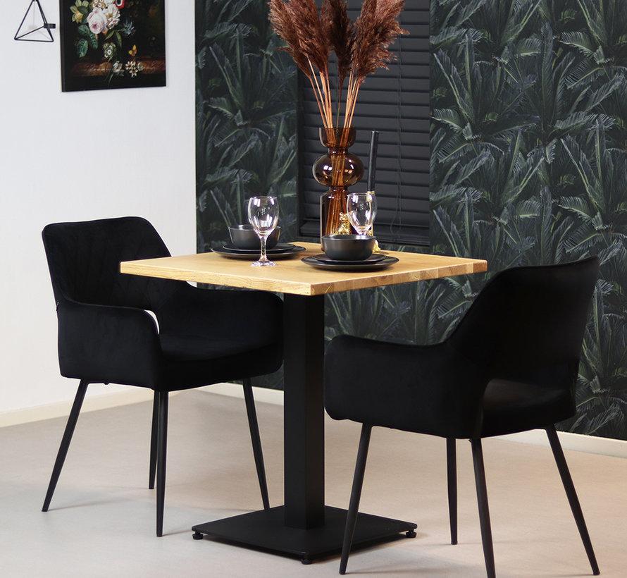 Horeca bistrotafel Sven eikenhout 70 x 70 cm