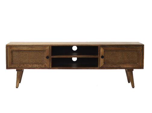Bronx71 Tv-meubel Roto mangohout 145 x 35 x 46 cm