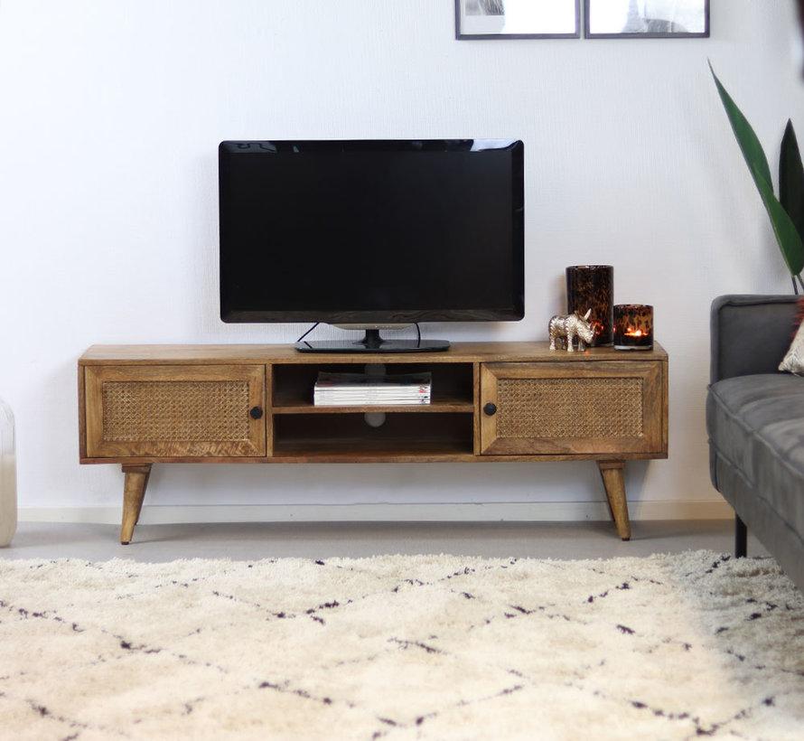 Tv-meubel Roto mangohout 145 x 35 x 46 cm
