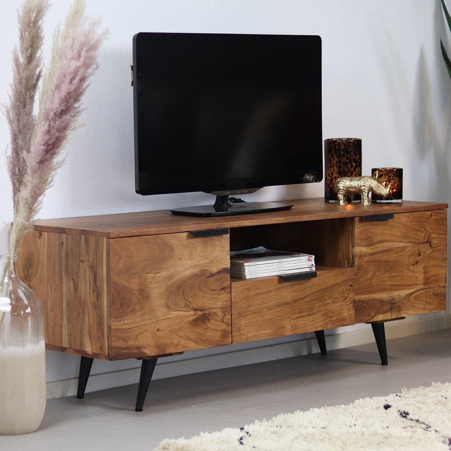 Tv meubel Robinia acaciahout 135 x 45 x 46 cm